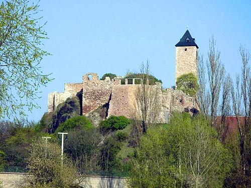 Burg Giebichenstein - Blick auf die Oberburg